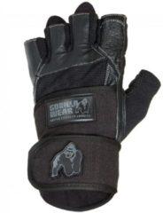 Zwarte Gorilla Wear Dallas Wrist Wrap Gloves - Black