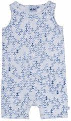 Ebbe - playsuit - Crisp anker - wit blauw - Maat 56
