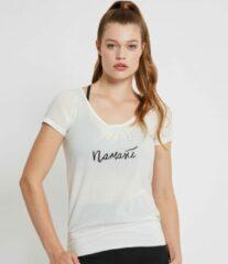 Zense Sportswear Zense - Dames yoga T-shirt Malou - Wit - S