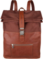 "Bruine Cowboysbag Backpack Hunter Laptop 15.6"" Cognac 2276"