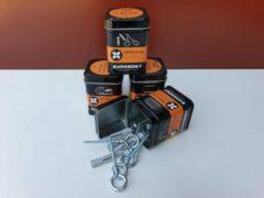 Grijze Expandet universele plug met schroefoog verzinkt 8 x 50 mm 5 stuks