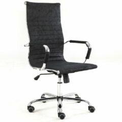 Breazz Manhattan ECO leer - Bureaustoel - Hoge rugleuning - Zwart