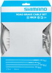 Grijze Shimano set remkabels voor racefietsen met PTFE binnenkabel - Remkabels