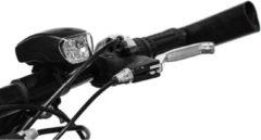 Zwarte Merkloos / Sans marque 1x Fietskoplamp / voorlicht LED - 3x AAA - batterij koplamp - fietsverlichting / voorlichten