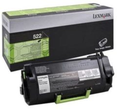 LEXMARK 522 tonercartridge zwart standard capacity 6.000 pagina s 1-pack return program
