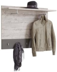 Zandkleurige FD Furniture Wandkapstok Jessy - Zand eiken met Lava