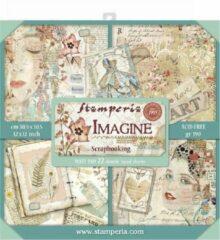 Stamperia Imagine 12x12 Inch Maxi Paper Pack (SBBXL04)