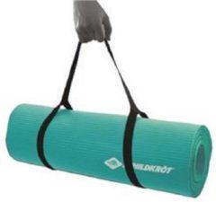 Groene Schildkrot fitnessmat - mint - 180x61x1cm