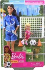 Barbie Voetbalcoach Speelset
