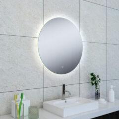 Douche Concurrent Badkamerspiegel Soul Rond 60x60cm Geintegreerde LED Verlichting Verwarming Anti Condens en Touch Schakelaar