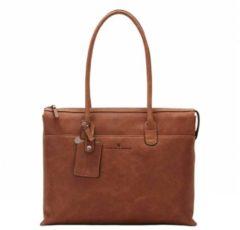 Bruine Castelijn & Beerens Castelijn en Beerens Carisma laptopschoudertas 15,6 inch Cognac