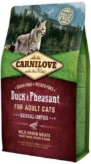 Carnilove Cat Grain Free Duck & Pheasant Adult Hairball 6 kg