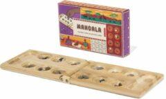 Kikkerland Bordspel - Mancala - Bamboe speelbord - Voor kinderen en volwassenen