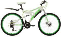 KS Cycling Fully-Mountainbike, 26 Zoll, weiß-grün, 21 Gang-Kettenschaltung, »Bliss«