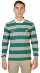 Groene Polo Shirt Lange Mouw Oxford University - magdalen-rugby-ml