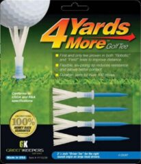 GreenKeepers 4 Yards More Golf Tee - Driver - 3 1/4 inch - Blauw