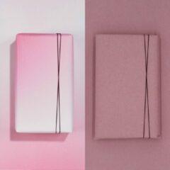Paperoni - Bundel Glow Cherry - luxe cadeaupapier - inpakpapier - 2 rollen met bijpassend koord - Roze-Pastel roze