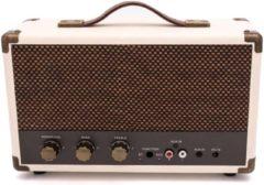 Creme witte GPO WESTWOODCRE - Nostalgische Bluetooth speaker - crème