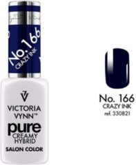 Blauwe Victoria Vynn™ Gellak - Gel Nagellak - Gel Polish - Pure Creamy Hybrid - Crazy Ink 166 - 8 ml