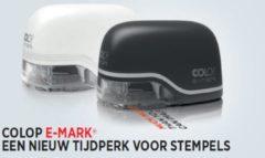 Colop e-mark® (wit montuur) electronisch kleuren stempel