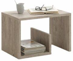 Zandkleurige FD Furniture Bijzettafel / Lectuurhouder Mike - Zand Eiken