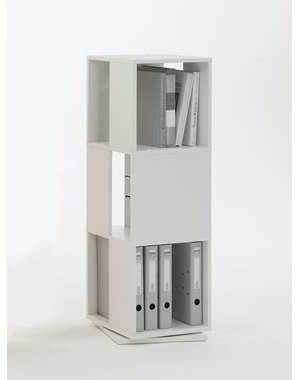 Afbeelding van Witte Leen Bakker Kast draaibaar Tower - beukenkleur