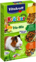 Vitakraft Trio Mix honing/spelt-groente/biet-citrus/sinaasappel-cräcker cavia 3-in-1