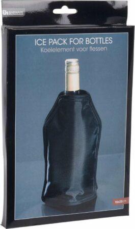 Afbeelding van Orange85 Koelelement fles wijn en dranken - zwart - vriezer - kamperen - zomer - 15 x 22 cm
