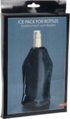 Orange85 Koelelement fles wijn en dranken - zwart - vriezer - kamperen - zomer - 15 x 22 cm