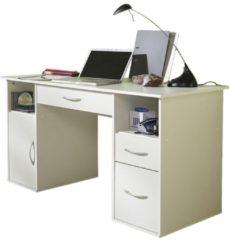 Schreibtisch PC-Fach 'Tallinn' Weiss | Schubladen Computertisch VCM weiss