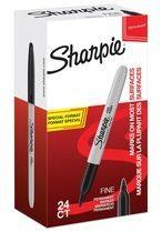 Sharpie permanente marker fijn, value pack van 24 stuks (20 + 4 gratis), zwart