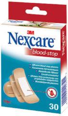 3M Nexcare™ Blood-Stop Bloedstop pleisters, huidkleurig, assortiment, 30 pleisters, N1730AS
