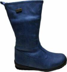 Naturino rainstep effen lange warme lederen laarzen Edera blauw mt 28