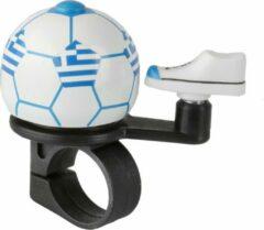 Witte M-wave Fietsbel Mini Voetbal Griekenland