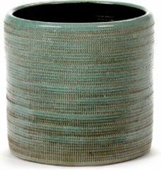 Serax Bloempot Structuur Groen D 17 cm H 16 cm