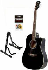 Fazley W50CBK starter set akoestische gitaar zwart