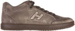 Marrone Hogan Scarpe sneakers uomo in pelle h168 mid cut h rilievo