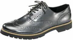 Antraciet-grijze Veterschoen Fitters Footwear Antraciet