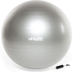 Swiss ball - VirtuFit Anti-Burst Fitnessbal Pro - Gym Ball - met Pomp - Grijs - 75 cm