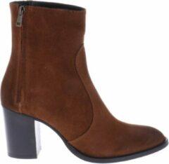 HIP Shoe Style for Women HIP D1965 Enkellaarsjes Rits Bruin - Maat 39