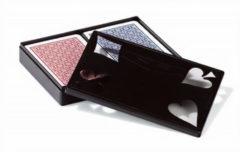 Dal Negro speelkaarten Ramino karton rood/blauw 2-delig