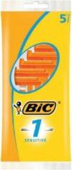 3 x 5 BIC Sensitive scheerapparaat voor mannen Oranje