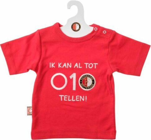 Afbeelding van Feyenoord Baby T-Shirt KM 010 Tellen, rood (56-62)