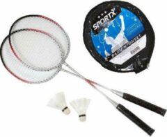 Grijze Sportx Badminton Set Superluxe 2Ass