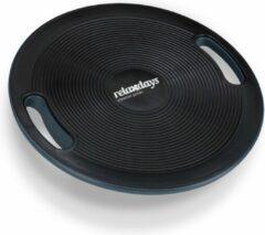 Relaxdays balansbord - balanceboard - balans trainer - balansbal - 40 cm - wiebelbord zwart