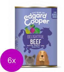 Edgard & Cooper Rund Blik - Voor volwassen honden - Hondenvoer - 6 x 400 g