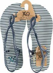 Xq Footwear Teenslippers Sandal Dames Polyester Blauw/wit Maat 40