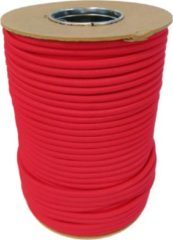 ABC-Led Elastisch Touw - Rood - 8mm - elastiek per meter