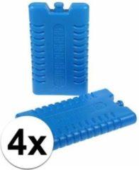 Blauwe Merkloos / Sans marque Koelelementen 4 stuks 8 x 15 cm