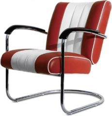 Bordeauxrode Bel Air Retro Loungestoel LC-01 Ruby